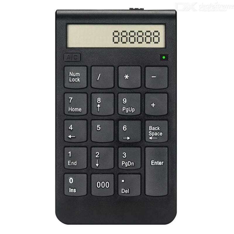USB Keyboard 2.4G Rechargeable Digital Display Wireless Numeric Smart Office Supplies, Wireless Financial Accounting