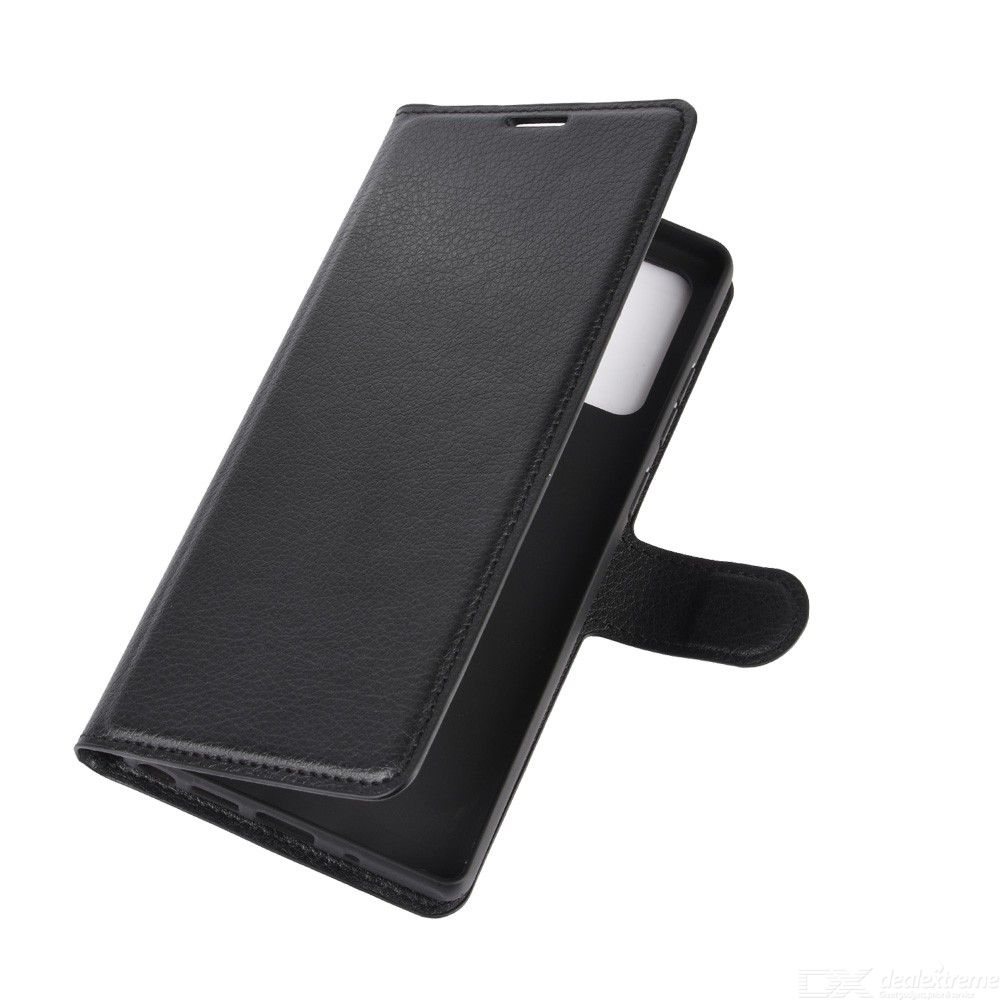 CHUMDIY Lichee Pattern PU Leather Phone Wallet Case with Card Pocket for Samsung Note 20