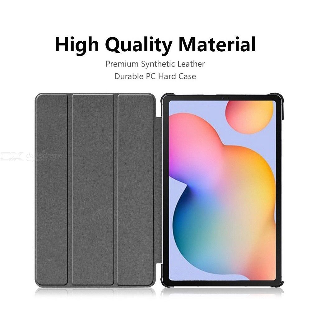 ENKAY ENK-8002 PU Smart Tablet Case with Three-folding Holder for Samsung Galaxy Tab S6 Lite P610 / P615