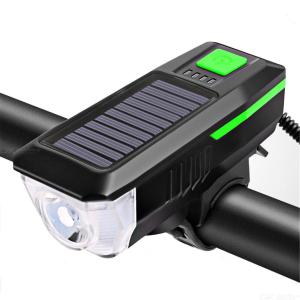 Solar energy bicycle lamp front lamp charging night riding strong light mountain bike flashlight bicycle accessories riding equi