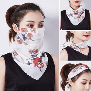Face Cover Scarf Breathable UV Protection with Adjustable Ear Rope for Women Outdoor