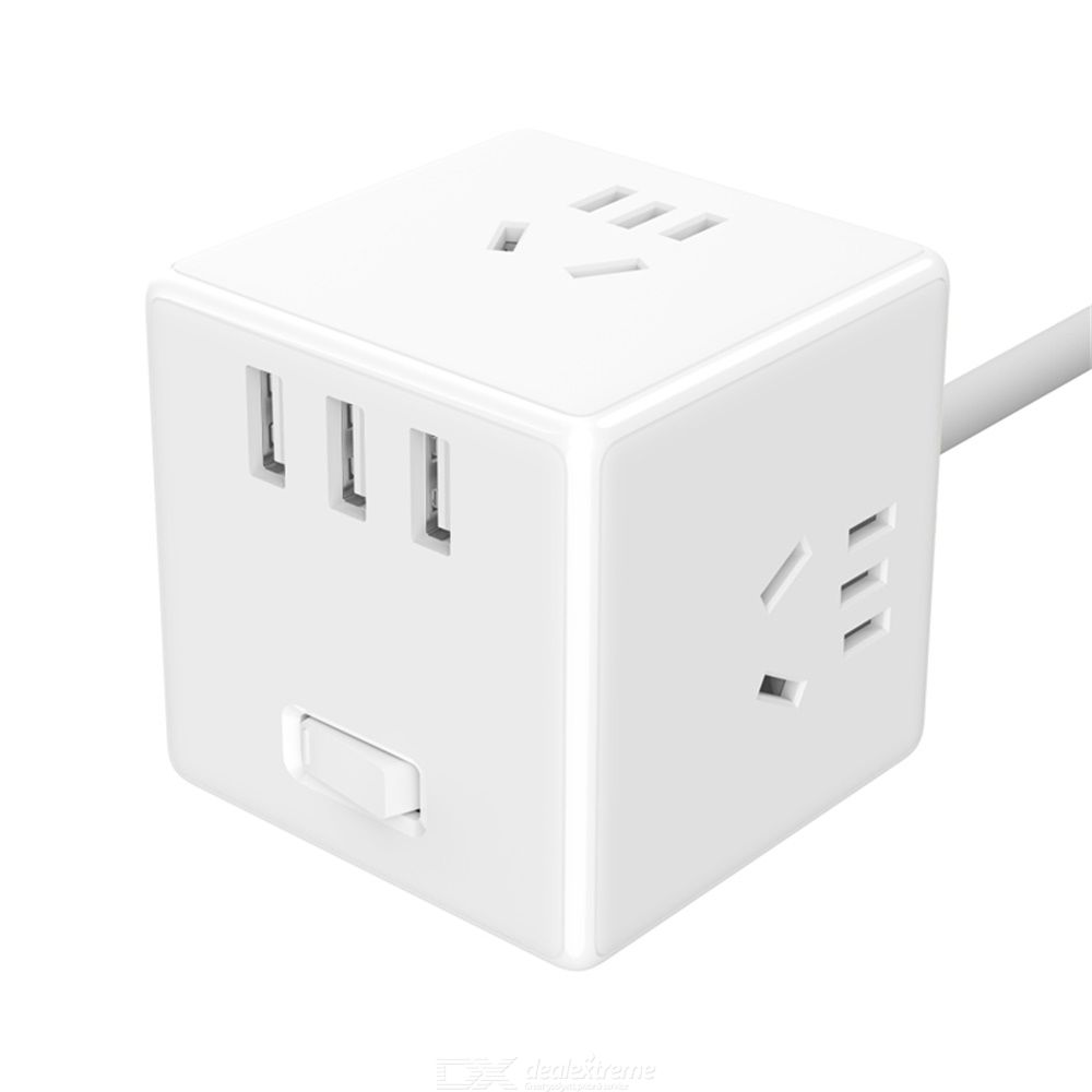 Xiaomi Mijia Charger Adapter Wired Magic-Socket Converter With USB Port