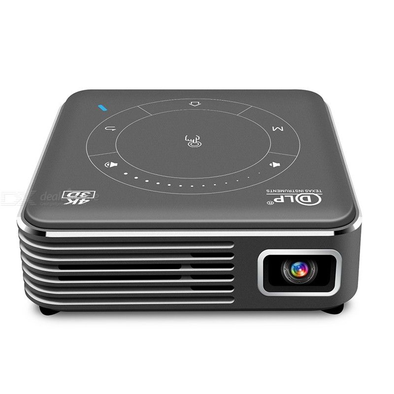 DLP P11 Newest Smart Pocket Mobile 3D Mini Projector Android 9.0 4K 3000mA Home Cinema 2.4G / 5G LED Proyector