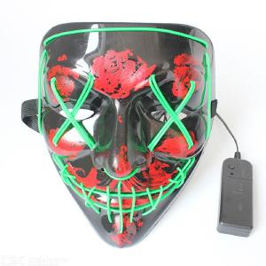 Multi-color glowing Halloween gore horror LED glowing mask