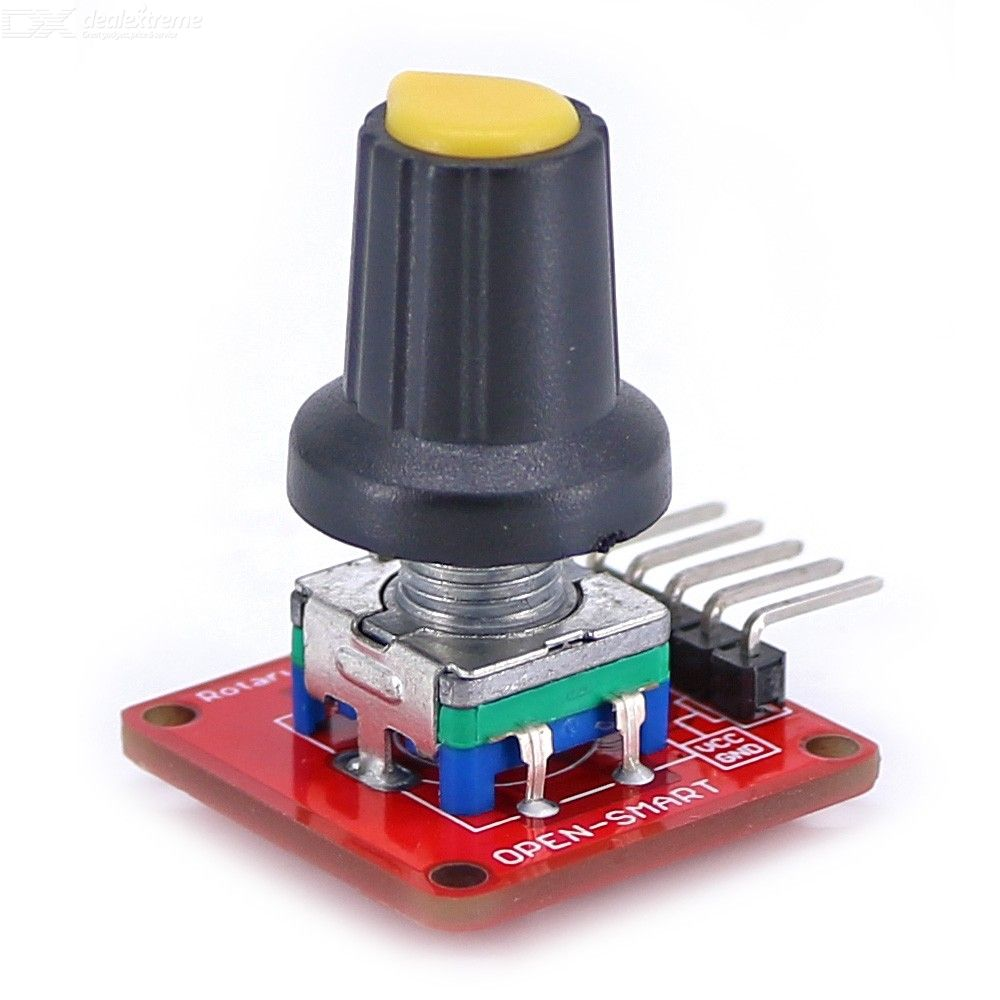 OPEN-SMART EC11 Rotary Encoder Module 360 degree Incremental Pulse Potentiometer Volume Control Knob with Button for Arduino