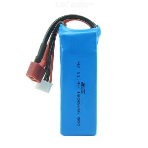 11.4v 1600mAh 50c high voltage battery vehicle model ship model plug can be customized