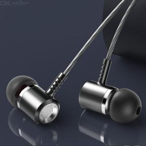 LANGSDOM LM400 Metal Earphones 3.5mm Wired Line Type In-Ear With Microphone