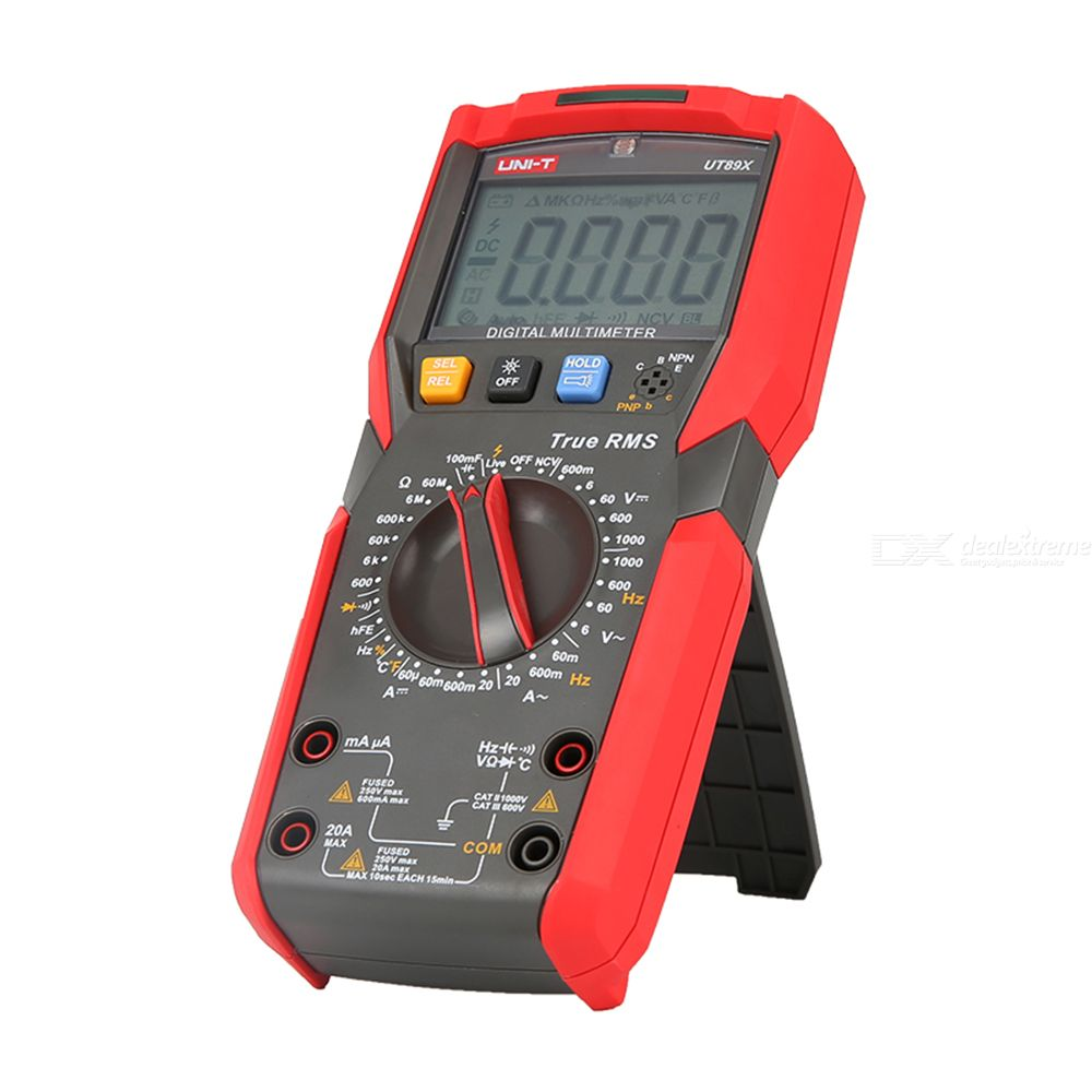 UNI-T UT89X/XD Digital Multimeter 100mF 0.001Hz-10MHz Handheld Anti-drop Shockproof Dustproof