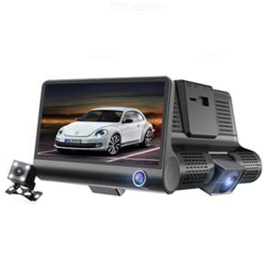Car Dashcam 3 Lens 4 Inch FHD 1080P Front+Inside+Rear Camera Car DVR Video Recorder Dashboard