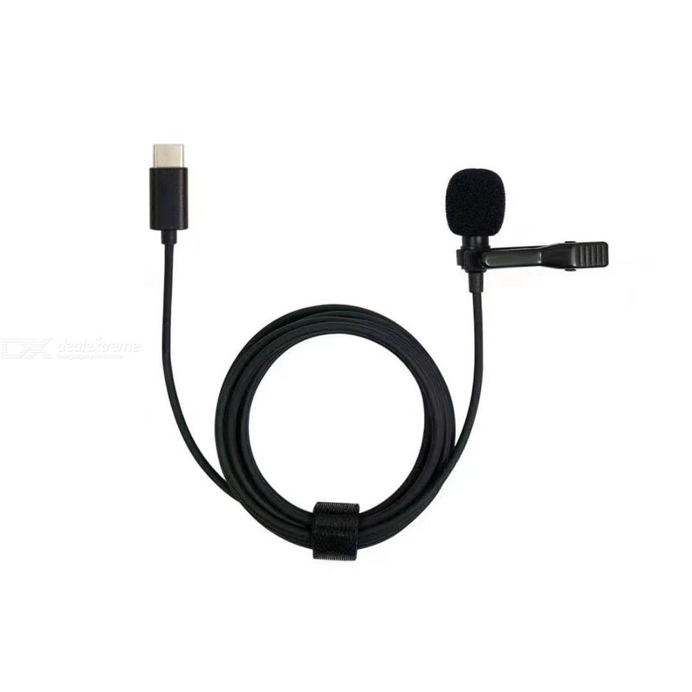Portable Professional Type-C Hands-free Omnidirectional Lavalier Microphone