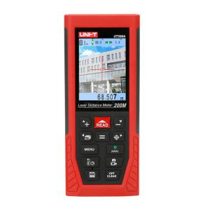 UNI-T 398A 200m Laser Distance Meter Digital Rangefinder Chargeable NiMH Batteries LCD Display