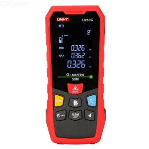 UNI-T LM50G/70G/100G Laser Distance Meter With Greenlight 50-100m 0.5s 515nm 800mAh High Precision