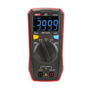 UNI-T UT123 Digital Auto Range Multimeter Mini Household Resistance Tester Professional NCV Measurement HB EBTN Screen