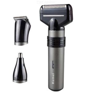 Kemei KM-1210 Electric Shaver 3 In 1 Multifunctional Reciprocating Razor Barber Nose Trimmer Device Men Face Shaving Machine