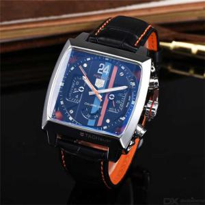 Mechanical Sports Watch For Men Causal  Stainless Steel Watch Square Leather Belt Dial Wristwatch