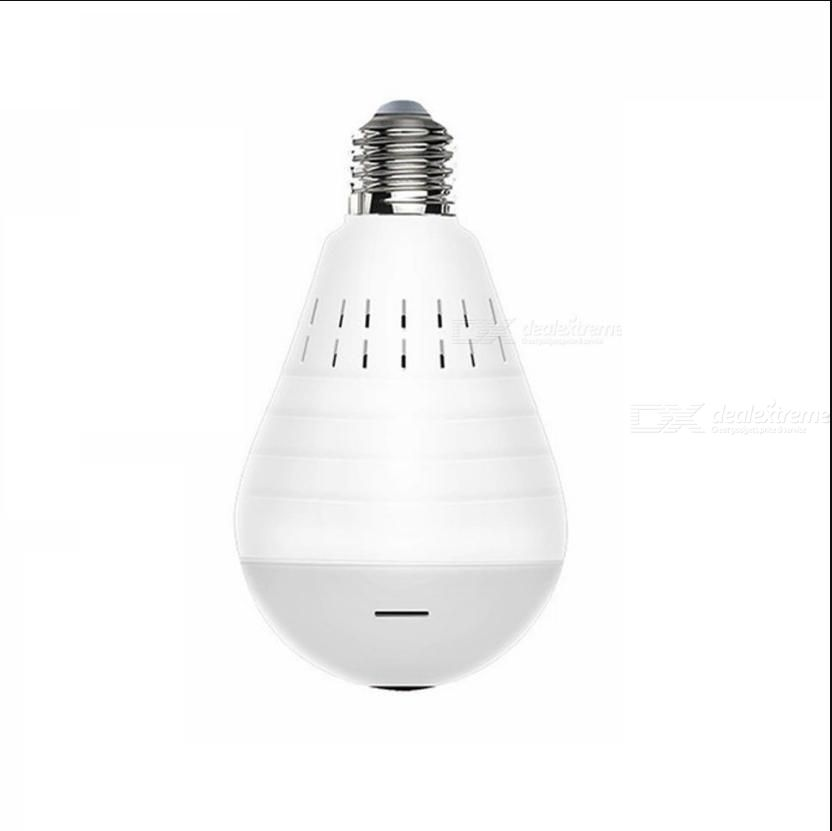 Home Surveillance 960P Wireless Light Bulb Camera 360 Degree Panoramic Motion Detection Night Vision