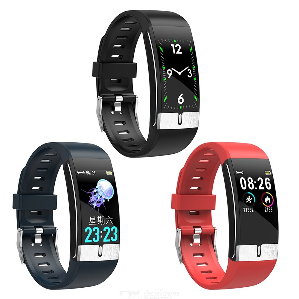 Smart Bracelet Color LCD Life Waterproof ECG PPG Fitness Tracker Adhesive Tape Rectangle/Square-shape