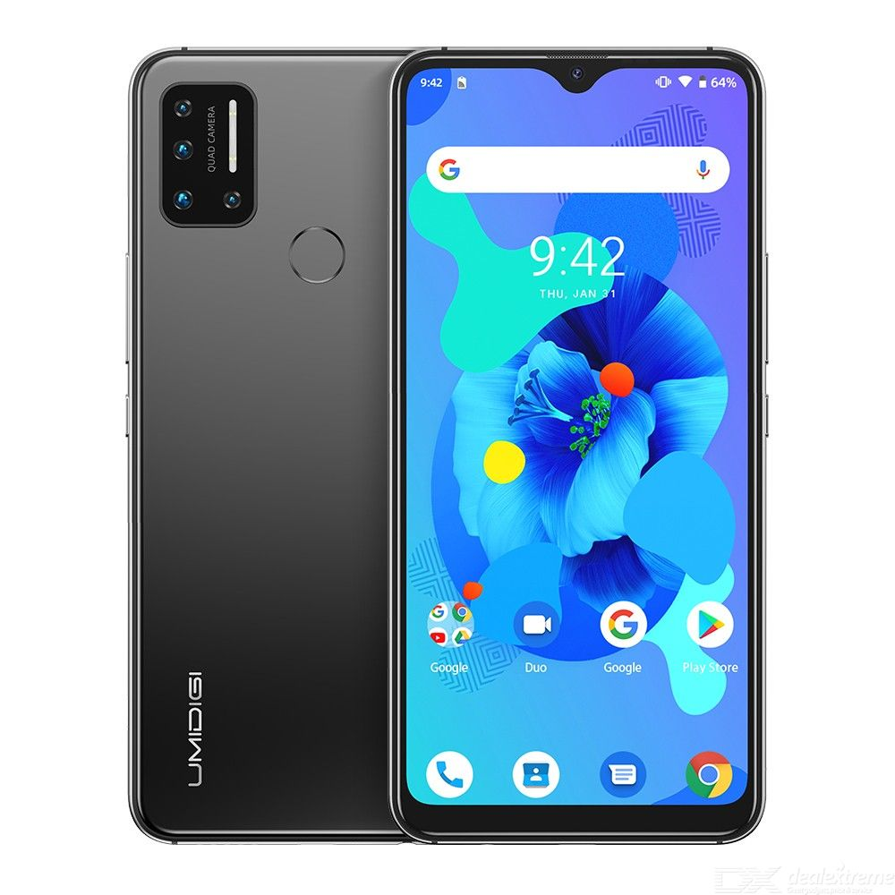 Presale UMIDIGI A7 Android 10 OS 6.49 Large Full Screen 4GB RAM 64GB ROM Quad Camera Octa-Core Global Version Smartphone