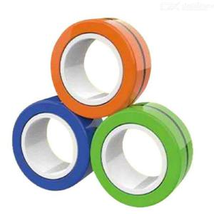 Decompression toy magnetic ring spinning top-3PCS