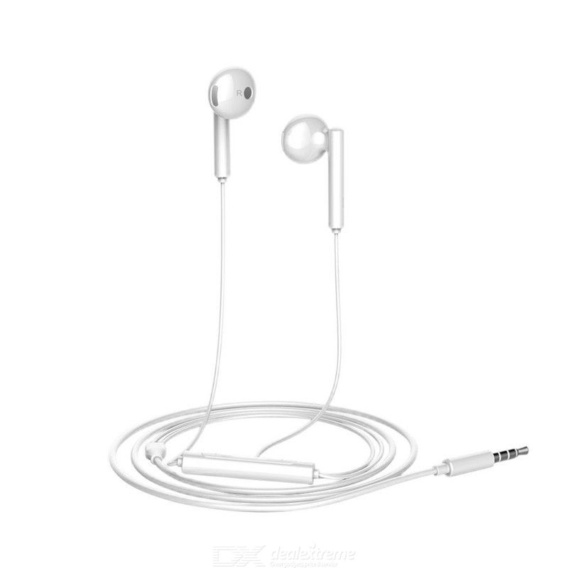 HUAWEI AM115 Earphone Wired Half In-ear Headphone with Mic Volume Control Headset