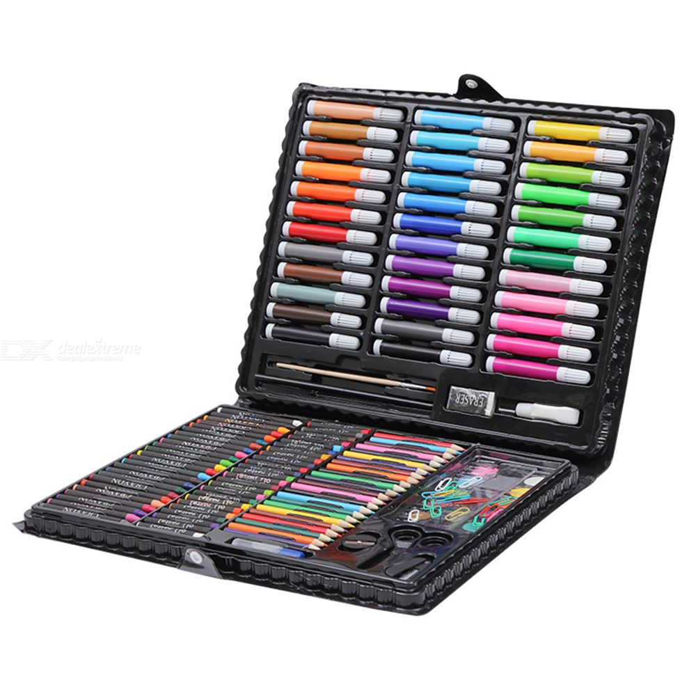 Painting Set 150 Items 176 Items Color Lead Watercolor Pen Watercolor Paints Oil Pastel