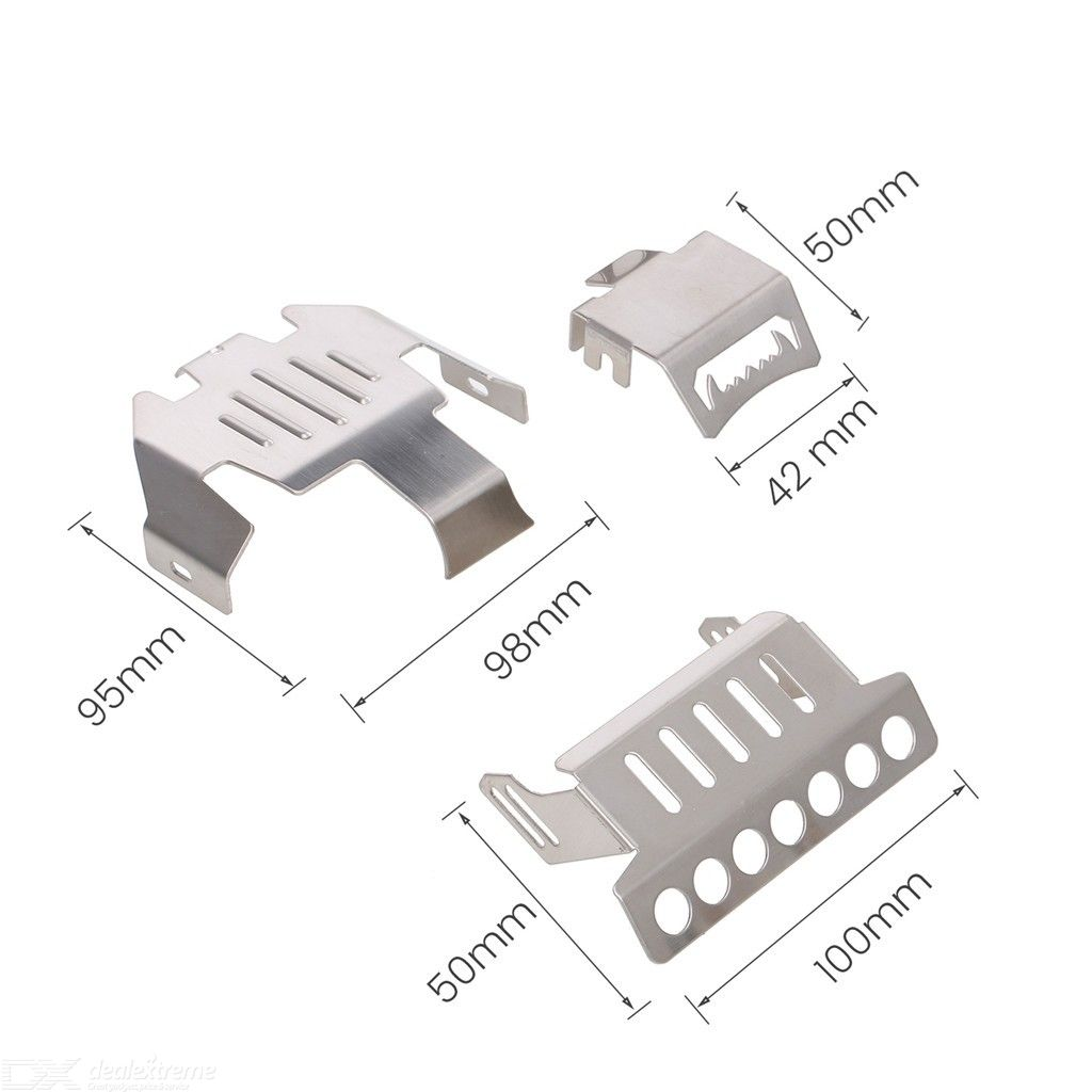 5 In 1 Stainless Steel Chassis Armor Protection Anti-crash Plate Kit for Traxxas Series RC Car