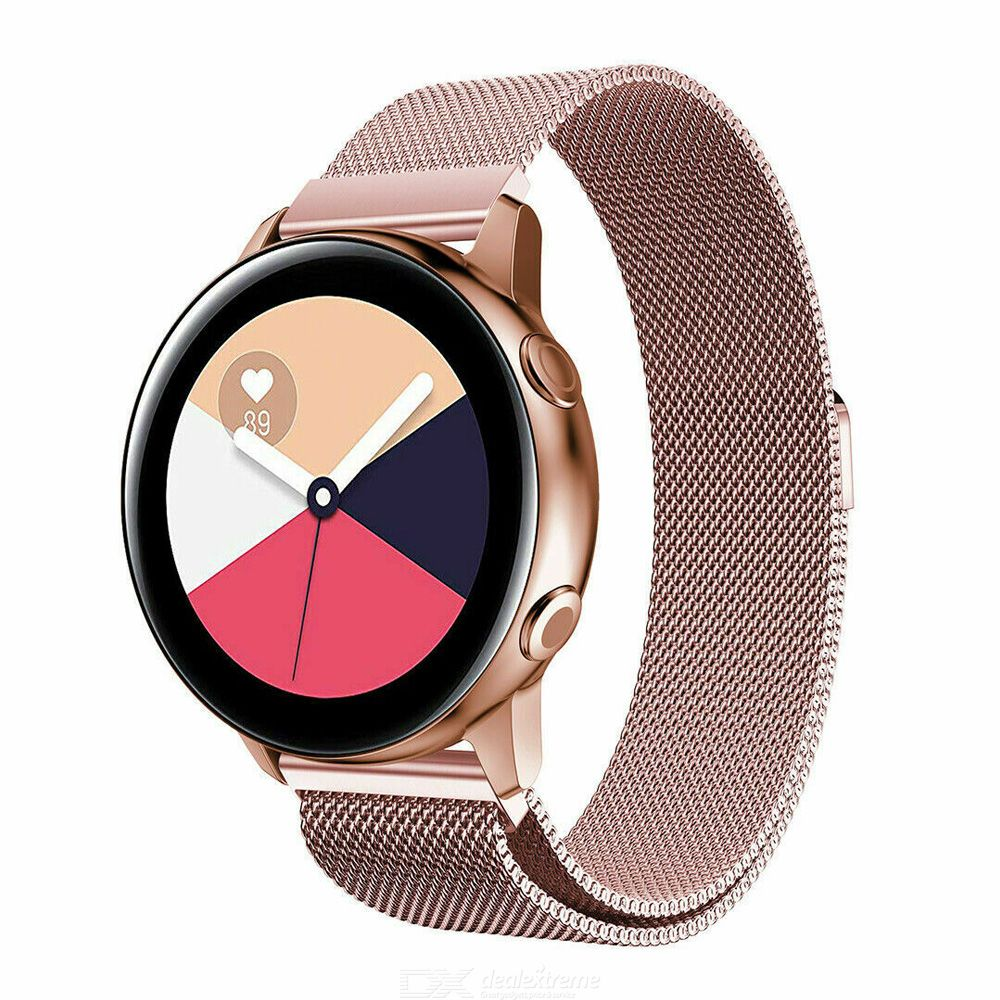 Stainless Steel Milanese Strap Magnetic Buckle Long Service Life For Samsung Galaxy Watch 20mm
