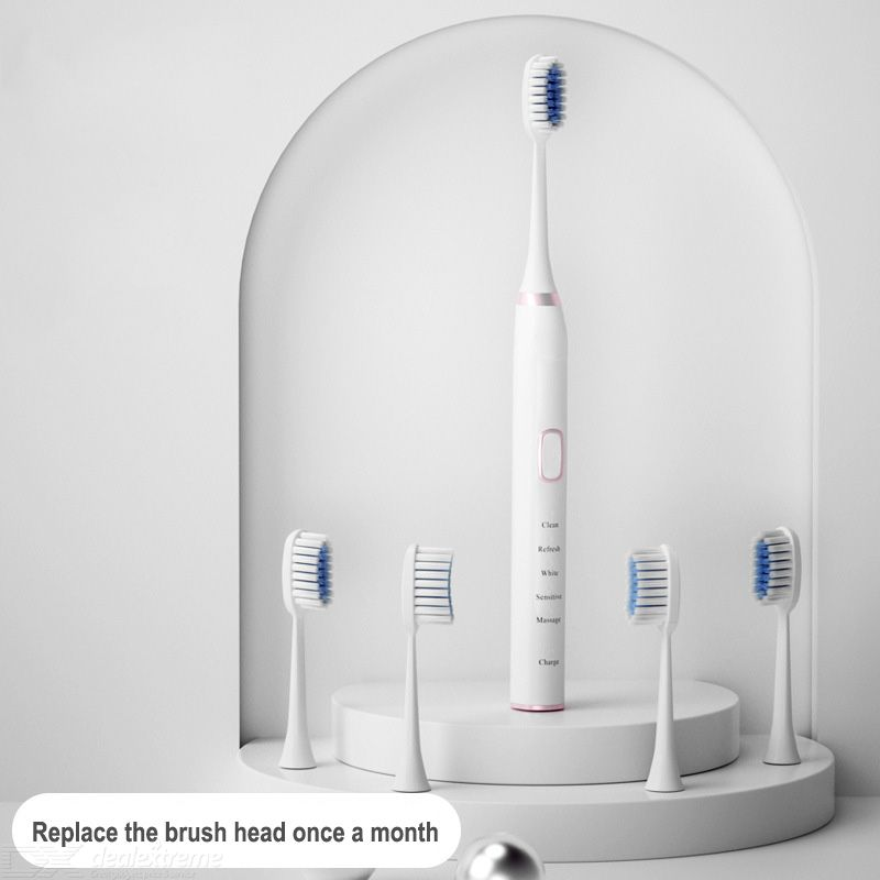 Youpin FAT Sonic Electric Toothbrush With 5 Brush Heads USB Rechargeable Ultrasonic Automatic Dental IPX7 Waterproof