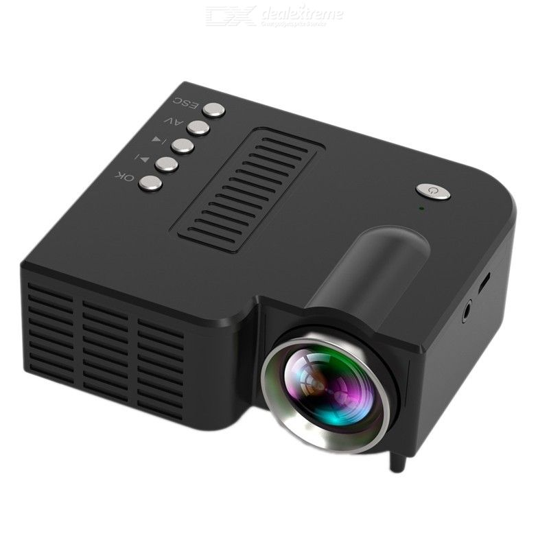Mini Portable Video Projector LED WiFi Projector UC28C 16.7M Video Home Cinema Movie Game Cinema Office Video Projector