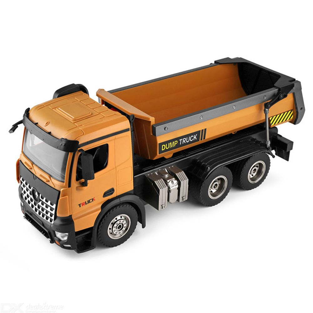 Wl Toys Remote Control Dump Truck  1:14 Engineering Car Model  Automatic Sand Loaded Truck Toys Digital Model Truck  For Boys