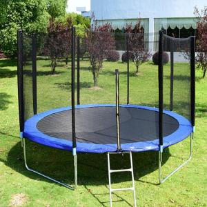 Large Outdoor Trampoline Round Backyard with Safety Enclosure - US Warehouse