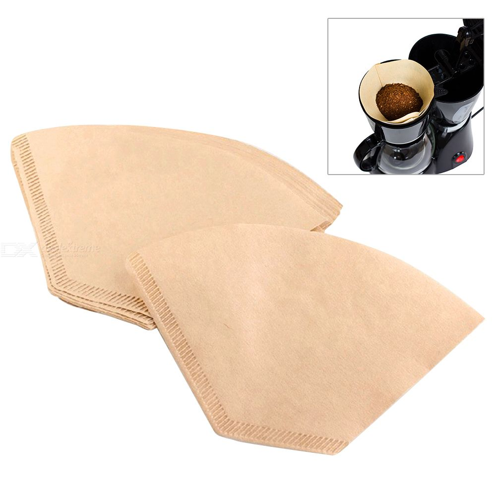 American Coffee Machine Filter Paper Pull Over Coffee Filter Special Coffee Drip Filter Paper Fan Shaped Filter Paper Worldwide Fast Shipping