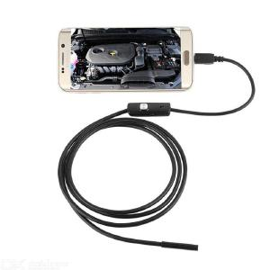 7mm Flexible Endoscope Camera IP67 Waterproof Inspection Borescope Camera for Android PC Laptop 6LEDs Adjustable