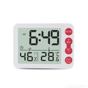 Home Electronic Therometer Hygrometer Clock, Kitchen Countdown Timer Clock Creative Multi-purpose Temperature Humidity Alarm Clo