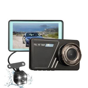 dash cam dual lens 4.5 Inch Touch Screen Recorder 1080p HD night vision car t693