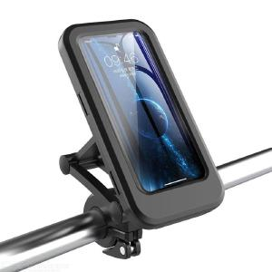 Universal Motorcycle and Bicycle Waterproof Mobile Phone Holder with Multifunction Magnetic Suction Retractable Adjustment
