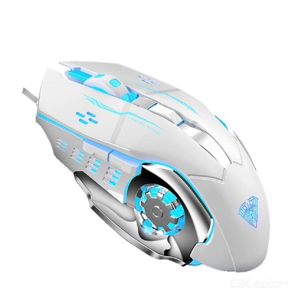 Professional Wired Gaming Mouse  Mechanic  Gaming Mice Cool Light Effects 6 Programmable Button Four-speed DPI  Ergonomic Design