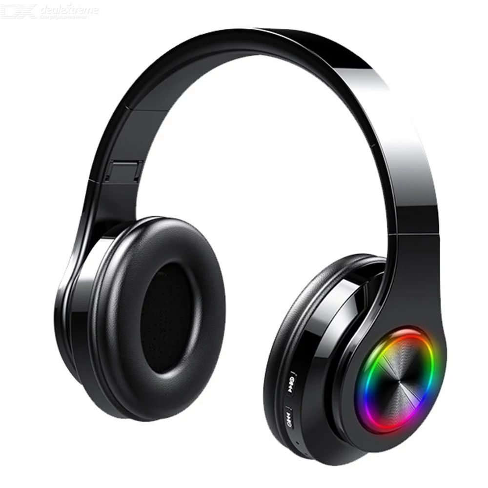 T6 Wireless Headphone Foladable BT5.0 Headset  9D Stereo Sound Support Card Noise Reduction For Sport Gaming With Microphone