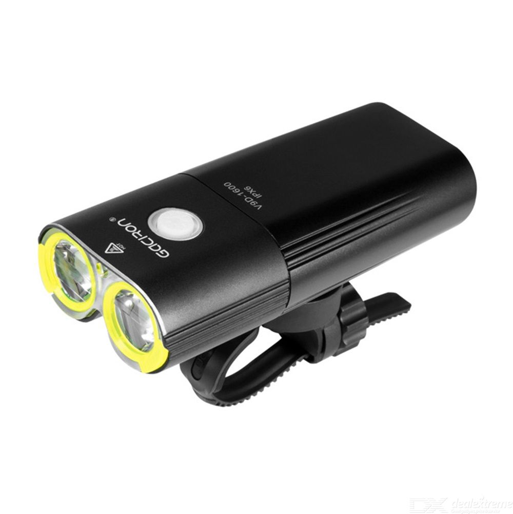 Mountain Bike Headlights Set 1600 Lumens Power Bank Cycling Lights Waterproof  Bicycle Light USB Rechargeable Front Lights