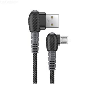 90-Degree Double Elbow Cable Type-C  Cable USB Data Transmission Line Fast Charging Cable Nylon Braided  Data Line
