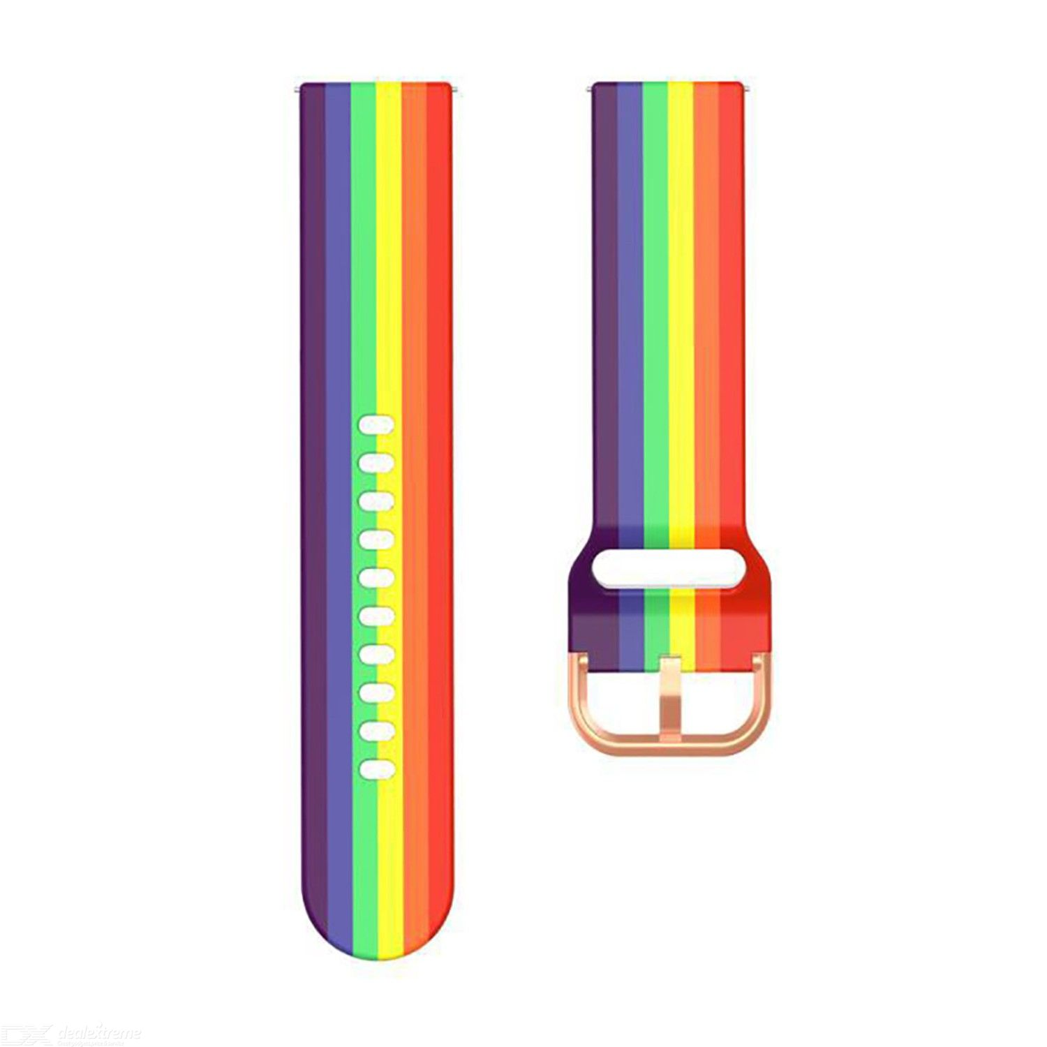 silicone rainbow watch strap Applicable to Samsung gear S3 / Galaxy active Huawei GT2