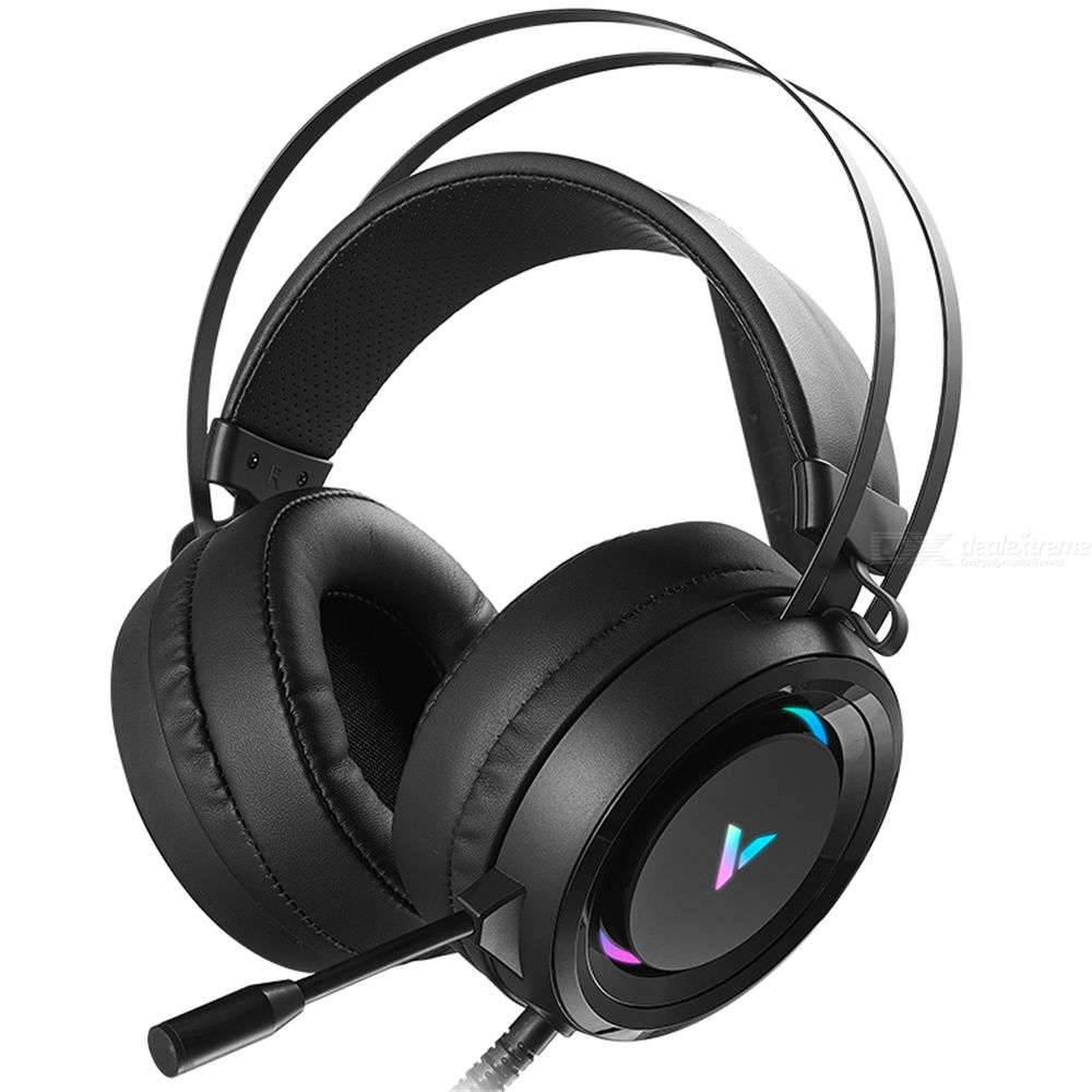 RAPOO VH500 Gaming Headphone Wired Headset With Microphones 7.1 Sound Track RGB Gaming Headphone USB Power
