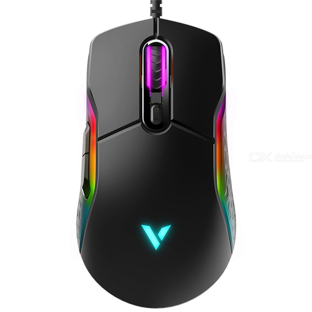 Rapoo VT200 Wired Gaming Mouse Optical Gaming Device RGB Backlight Programmable Mouse 8 Programming Buttons