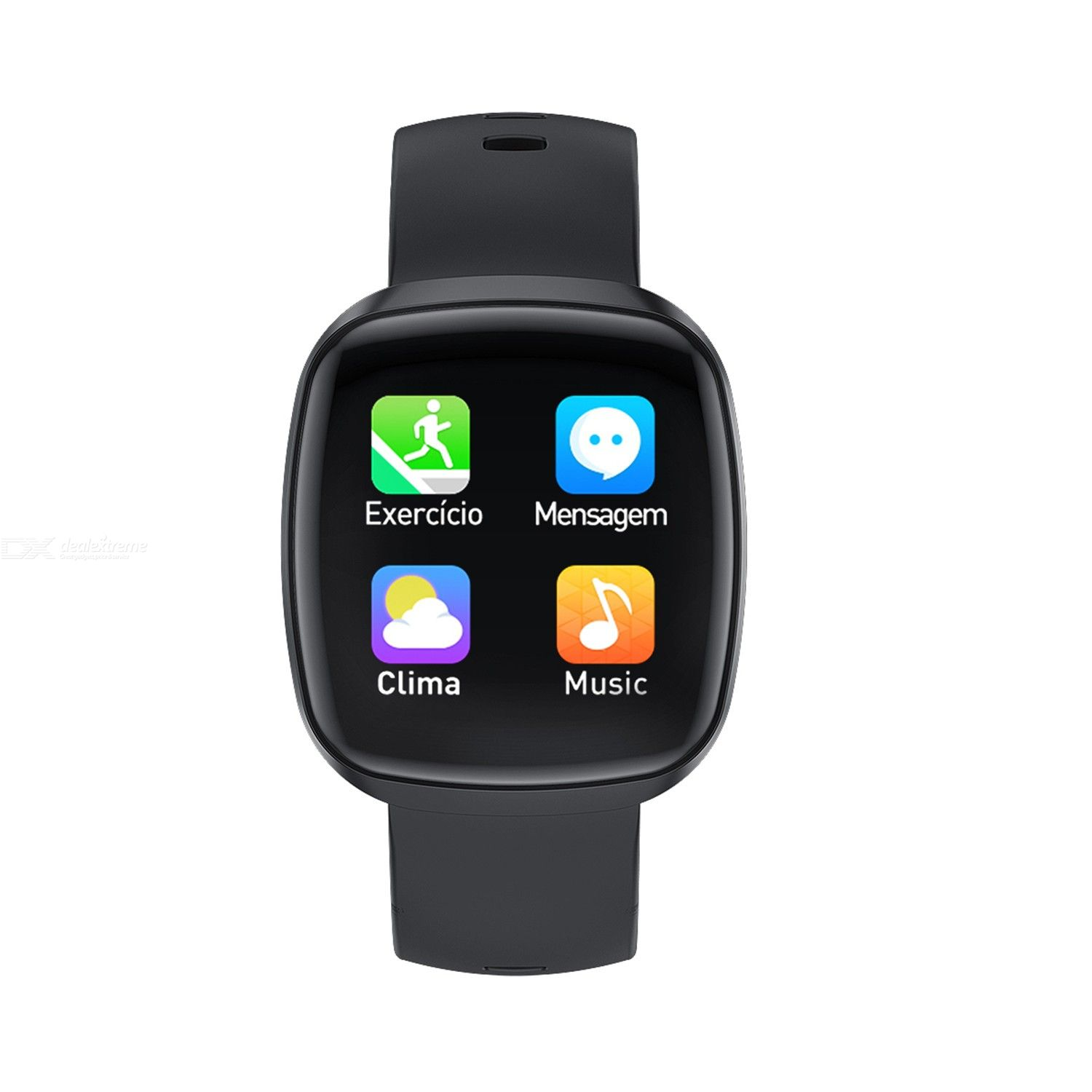 Intelligent watch t8-jw full touch screen temperature message alert multiple exercise modes heart rate blood pressure blood oxyg