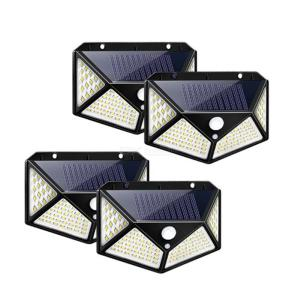 ZHISHUNJIA 100 LED Solar Light Outdoor Solar Lamp Powered Sunlight Waterproof PIR Motion Sensor Street Light for Garden Decorati