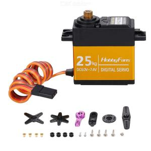 HOBBYFANS HF-S2225 25KG Metal Gear Digital Steering Servo for RC Baja Car Buggy Truck Boat Airplane Helicopter