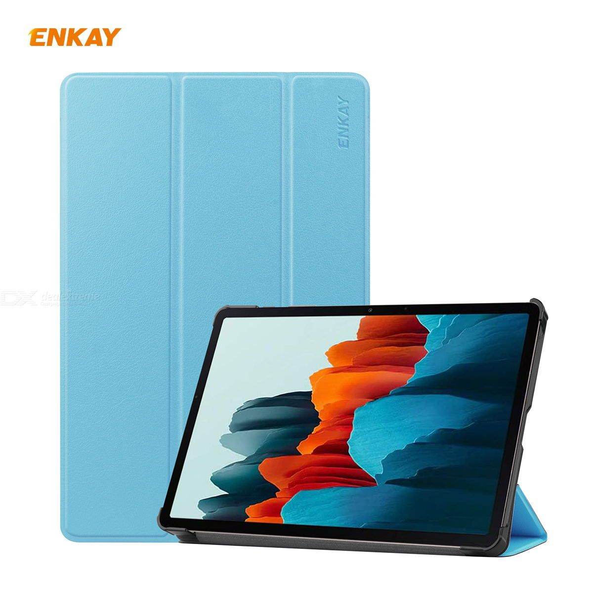 Enkay Enk-8010 High Quality Pu Leather + Plastic Smart Case With Three-folding Holder For Samsung Galaxy Tab S7 11.0 T870 / T875