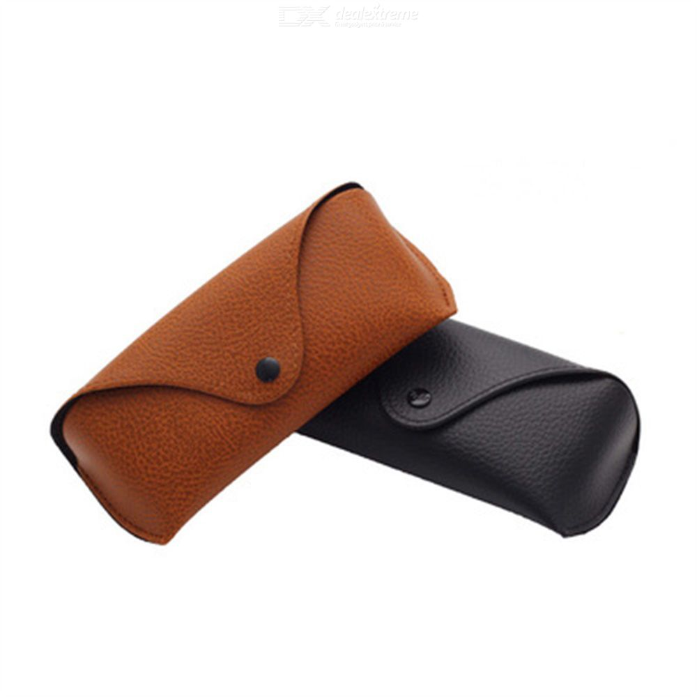 Sunglasses Case Compressive Lychee Pattern Leather Storage Function