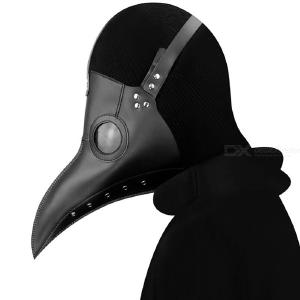 Plague Doctor Mask Halloween Cosplay Costumes Masquerade Party Strange Beaked Masks Birds Long Nose Mask