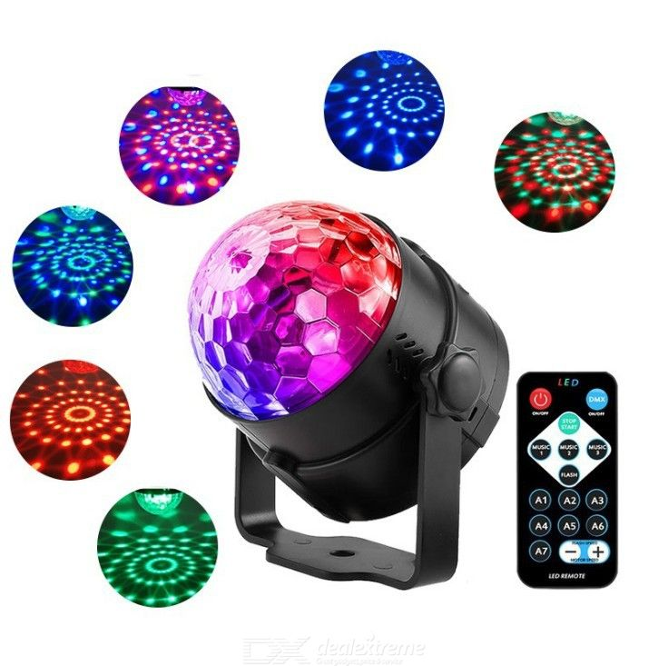 Magic Ball Light Mini LED Rotatory Light Colorful Reflection Light Laser Stage Light DMX Disco DJ Lights